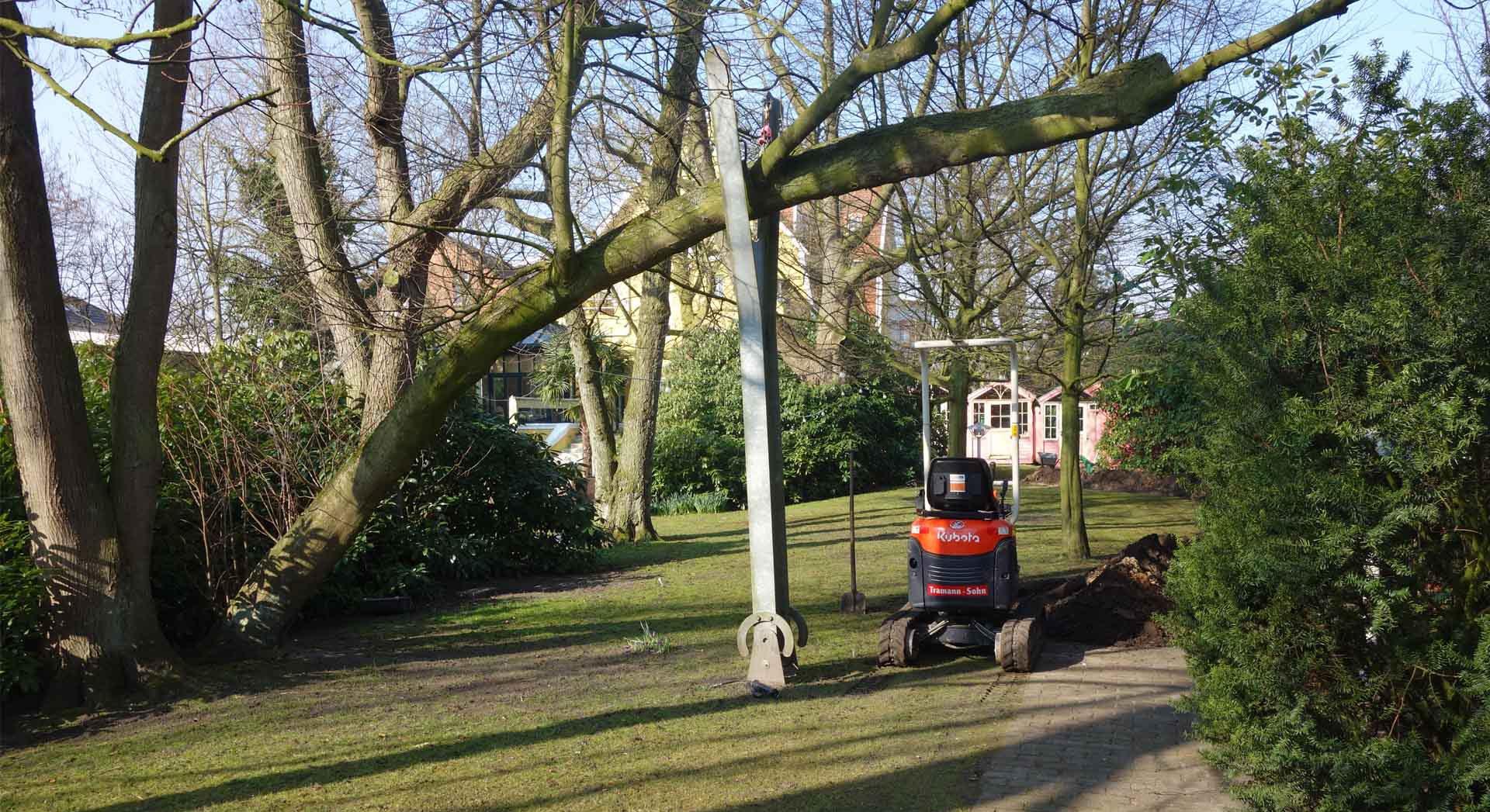 Speziallösung; Architektur; Stahlbau; Landschaftsarchitektur; Gartenbau; Baumstütze; Gartengestaltung;