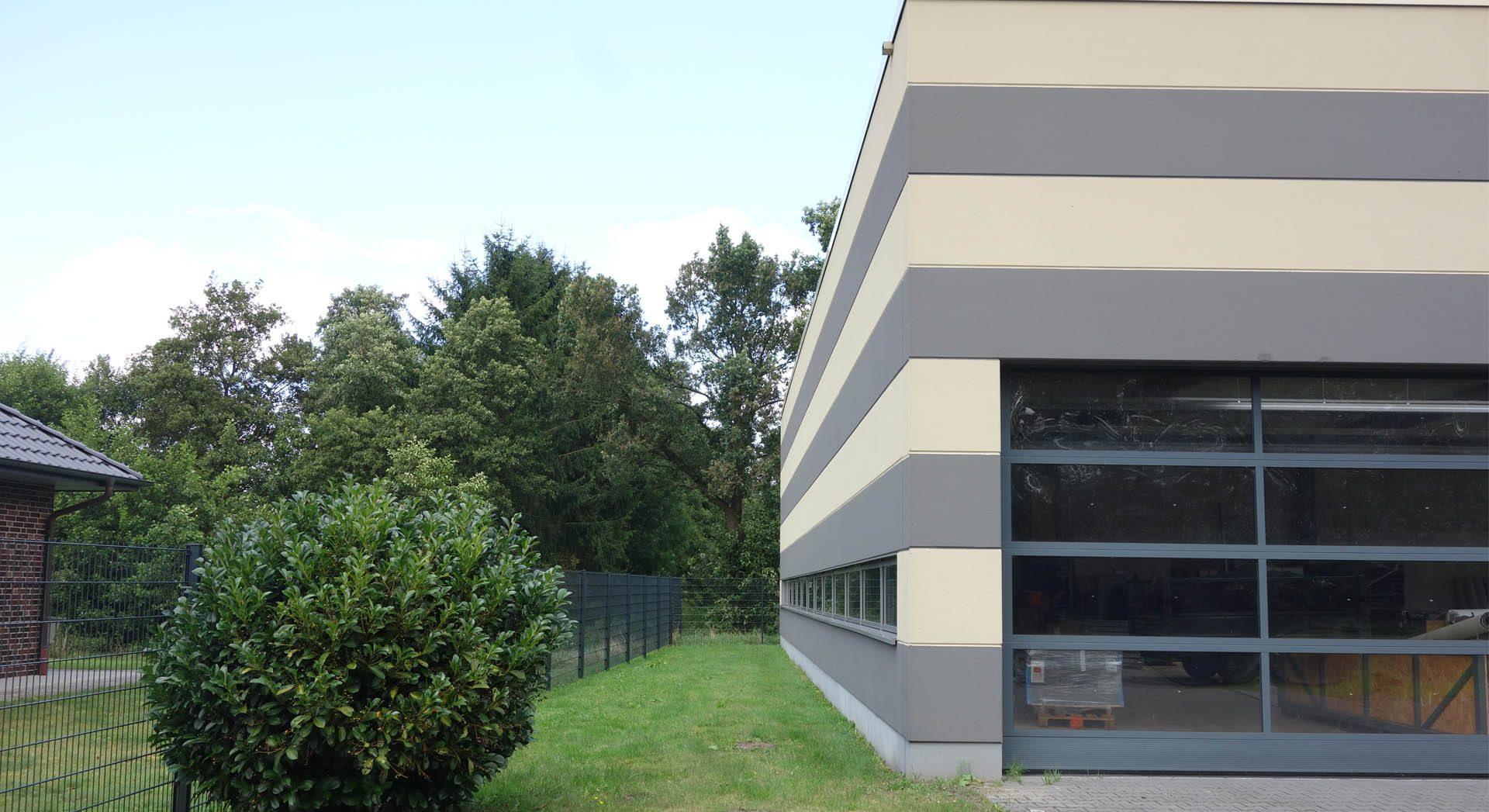 Gewerbearchitektur; Gewerbebau; Porenbeton; Lagerhalle; Architektur; Neubau;