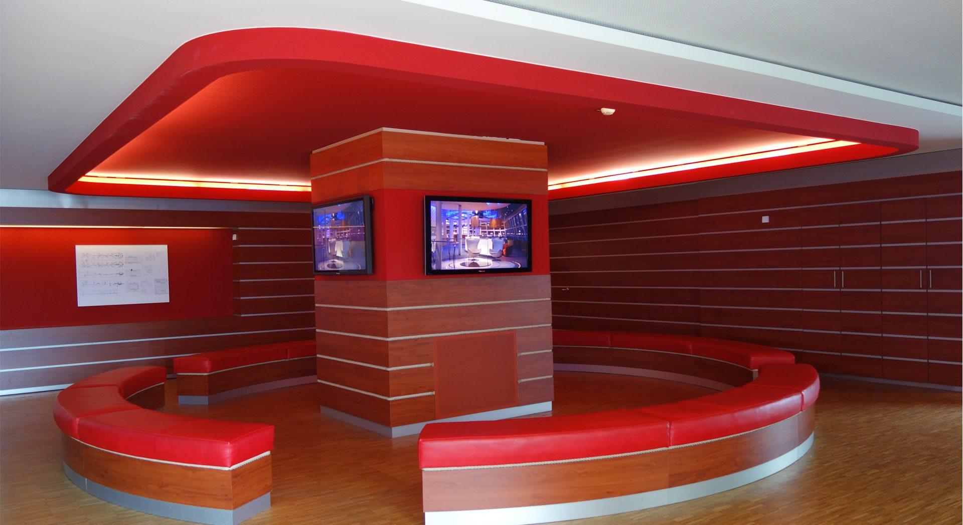 Gewerbearchitektur; Meyer Werft Besucherzentrum; Museum; Innenarchitektur; Gestaltung; Design; Lichtkonzept; Möbeldesign;